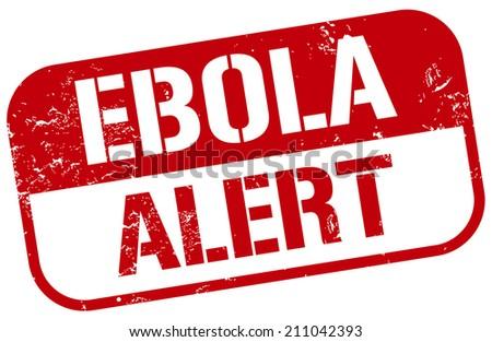 ebola alert stamp - stock vector