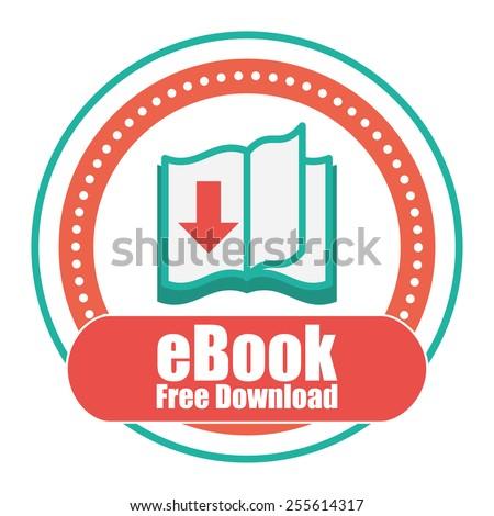 eBook design over white background, vector illustration. - stock vector