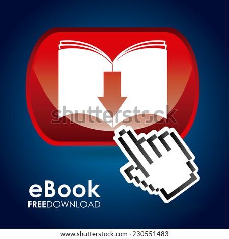 ebook graphic design , vector illustration - stock vector