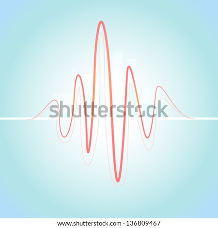ecg graph - stock vector