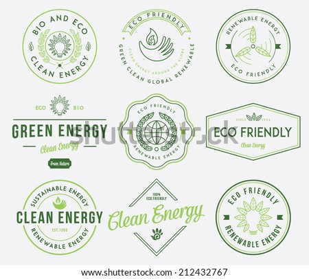 Eco and Bio Energy 1 colored - stock vector