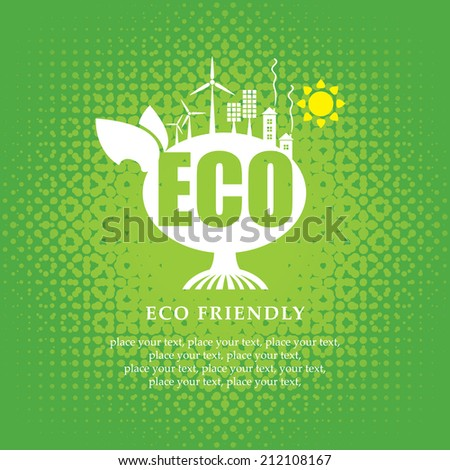eco banner of alternative energy sources - stock vector
