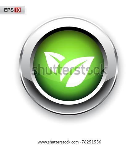 Eco button eps10 - stock vector