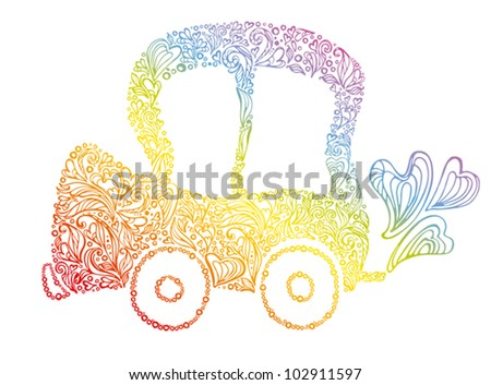 Eco car. - stock vector