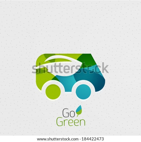 Eco Car Abstract Shape Design - stock vector