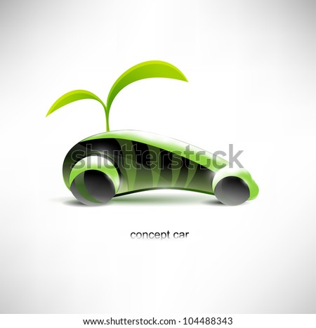 Eco car concept. - stock vector