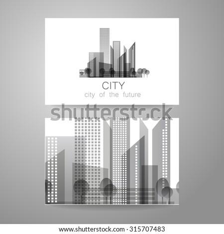 Eco city - logo. Template concept of corporate identity. - stock vector