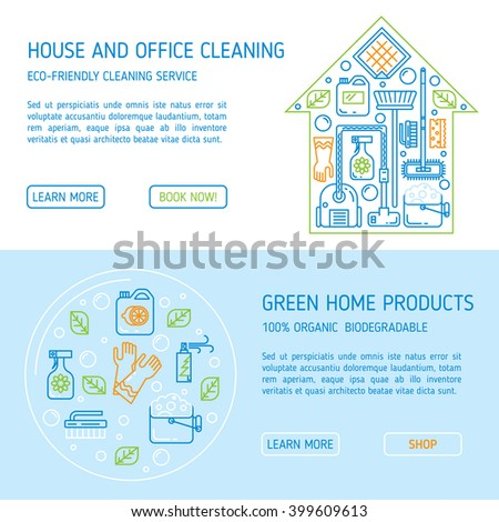Commercial cleaning stock vectors vector clip art for Modern cleaning concept