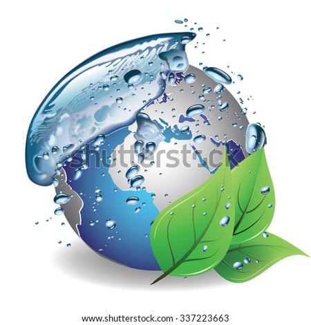 Eco Clear Water Concept - stock vector