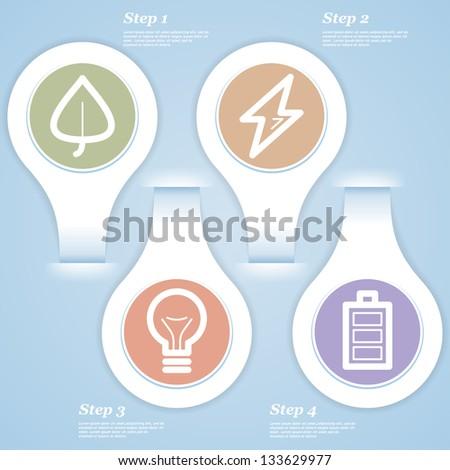 Eco concept infographic. Eps 10. - stock vector