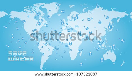 eco concept save water - stock vector