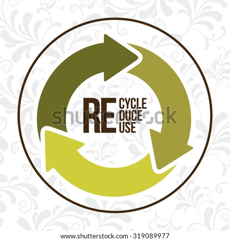 Eco concept with recycle icons design, vector illustration eps 10 - stock vector