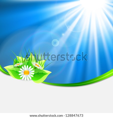 Eco-friendly abstract background. Vector illustration - stock vector