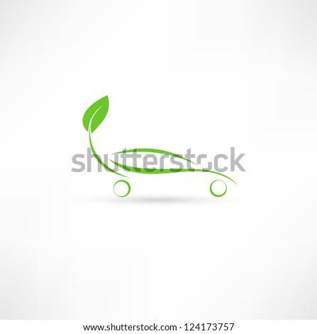 Eco friendly car - stock vector
