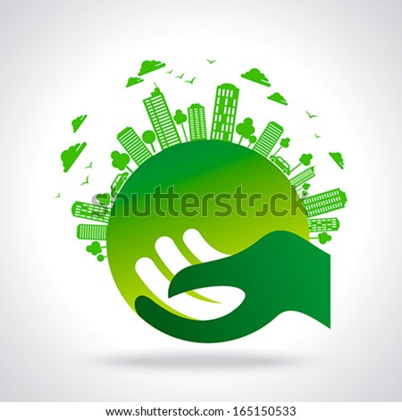 eco friendly concept - stock vector