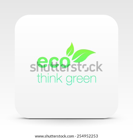 Eco friendly logo design on white box illustration eps 10 vector - stock vector