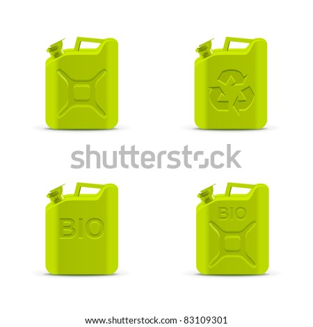 Eco fuel concept. Canisters - stock vector
