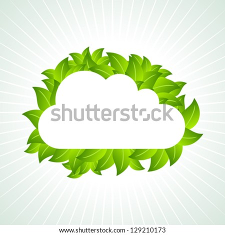 eco green concept - stock vector