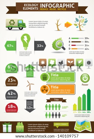 ECO & Green Concept Infographics - stock vector