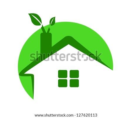 eco home - green energy - stock vector