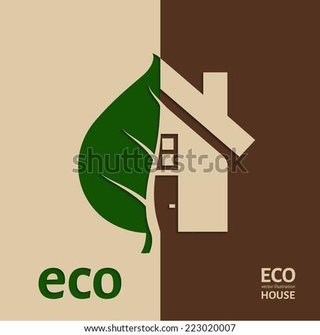 Eco House icon. Vector illustration. EPS 10. - stock vector