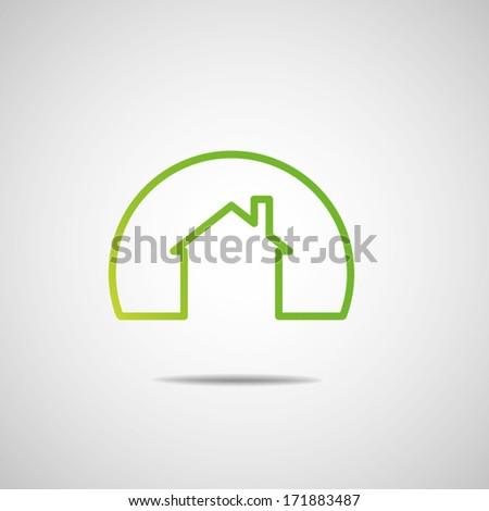 Eco House Real Estate icon. Vector design - stock vector