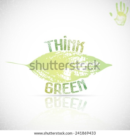 Eco icon with green leaf, vector bio sign on white background  - stock vector