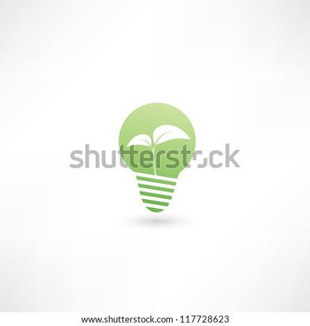 Eco light bulb - stock vector