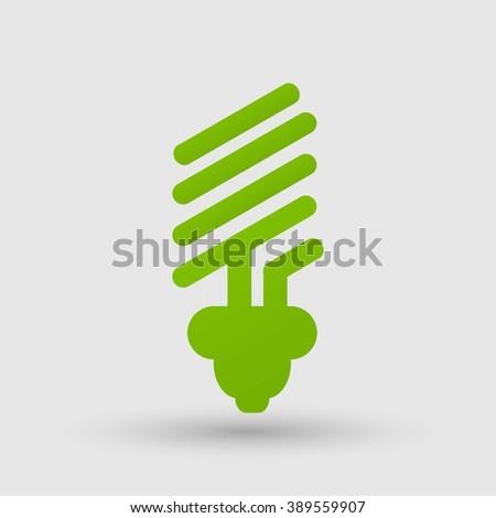 eco light bulb icons - stock vector