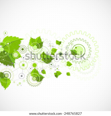 Eco manufacture abstract technology background. Vector - stock vector