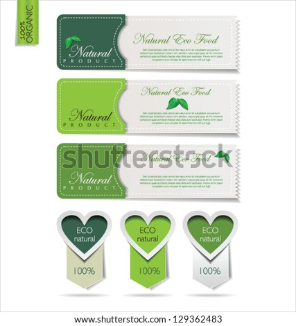 Eco modern labels - stock vector