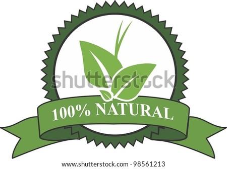 Eco natural - stock vector