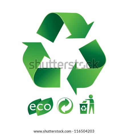 Eco recycle - stock vector