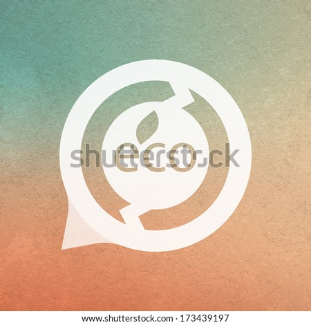 Eco sign. Vector illustration.  - stock vector