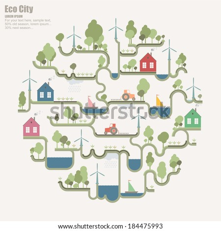 Eco structure ( Eco sphere ) - stock vector