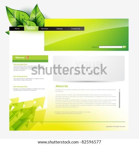 eco style vector web template - stock vector