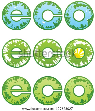 Eco symbol - stock vector