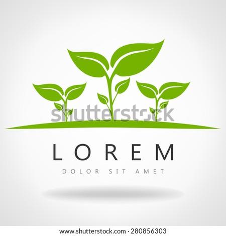 Eco symbol green leaf vector illustration - stock vector