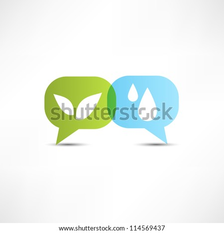 Eco. Water and vegetation. Symbol. - stock vector