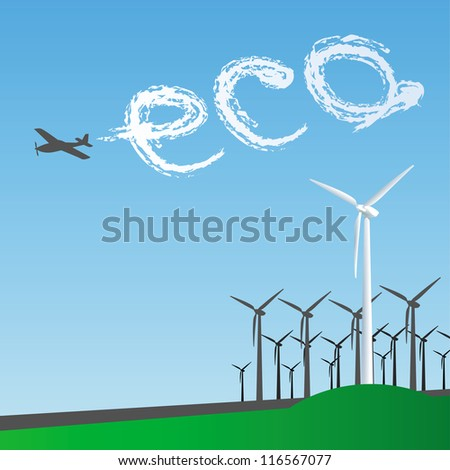 Eco Windmill - stock vector