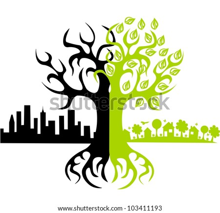 Eco world? - stock vector