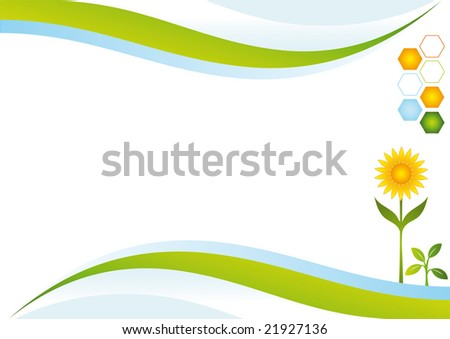 Ecologic energy background. - stock vector
