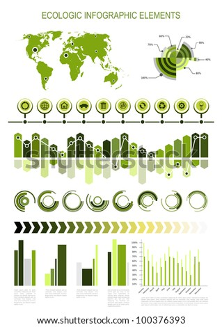 Ecologic infographic elements - stock vector