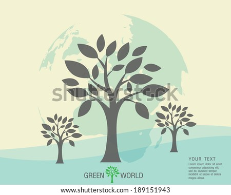 Ecological and save the world green - stock vector