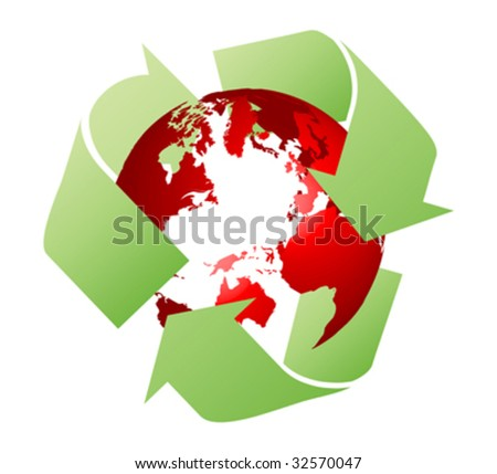 ecological earth vector illustration - stock vector