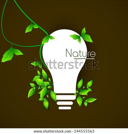 Ecological energy concept. - stock vector