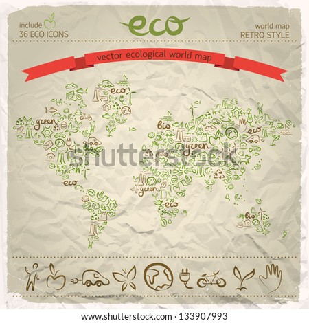 Ecological harmony concept. Vector Illustration, eps 10, contains transparencies. - stock vector