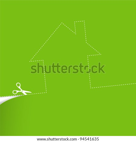 Ecological housing concept illustration. Vector - stock vector