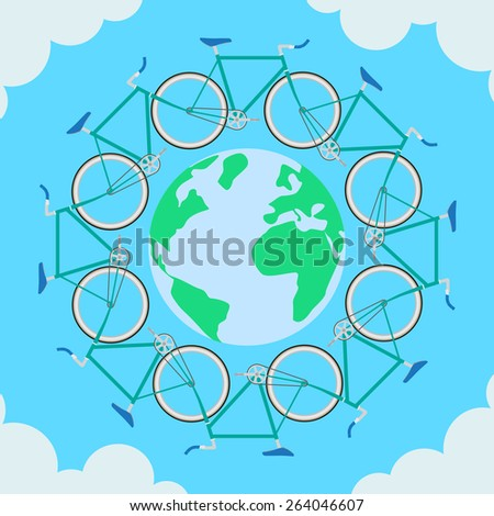 Ecological Transport will help protect the planet - stock vector