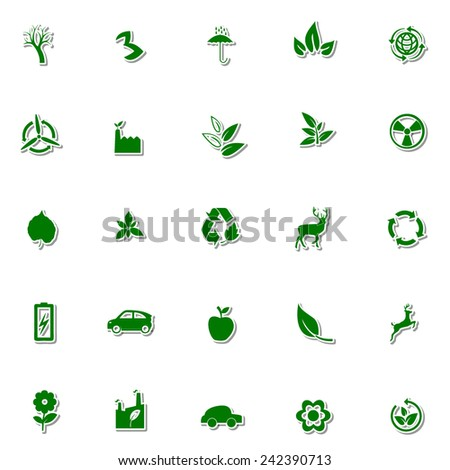 Ecology and Nature icon set 1 - stock vector